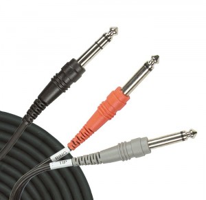 Fig. 2: A Y-cable used for patching an effects processor through an Insert Jack.